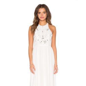 Parker black size 2 white dress